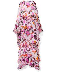 Emilio Pucci - Ruffed Printed Silk-georgette Maxi Dress - Lyst