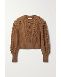 Ulla Johnson Verena Cable-knit Wool Sweater - Brown