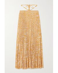 Christopher Esber Tie-detailed Mélange Ribbed-knit Maxi Skirt - Multicolour