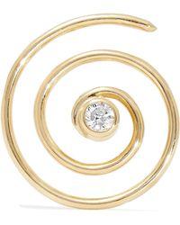 Beaufille | Spiral 10-karat Gold Diamond Earring | Lyst