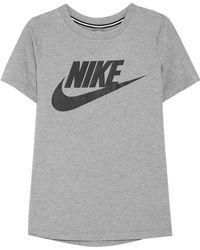Nike - Essential Printed Stretch-jersey T-shirt - Lyst