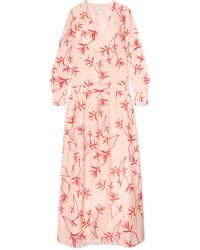 Borgo De Nor - Anya Printed Crepe De Chine Maxi Dress - Lyst