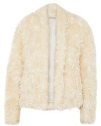 Vince Faux Shearling Jacket - Natural