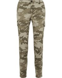 ATM - Camouflage-print Cotton-blend Slim-leg Trousers - Lyst