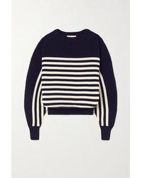Alexandre Vauthier Striped Wool Jumper - Blue