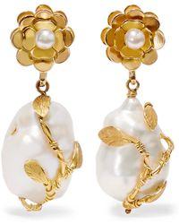 Of Rare Origin - Hedera Gold Vermeil Pearl Earrings - Lyst