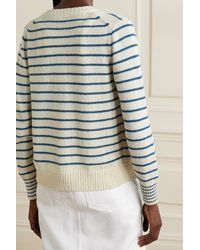 Alex Mill Honey Striped Cotton-blend Cardigan - White