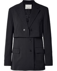 3.1 Phillip Lim - Oversized Layered Pinstriped Twill Blazer - Lyst
