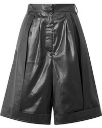 Tibi Pleated Shell Shorts - Black