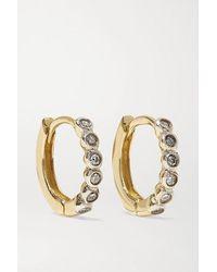 Mateo 14-karat Gold Diamond Hoop Earrings - Metallic