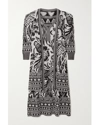 Johanna Ortiz Shiva Jacquard-knit Pima Cotton Cardigan And Dress Set - Black