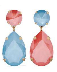 Roxanne Assoulin - Hip Hop But Not Gold-tone Swarovski Crystal Clip Earrings - Lyst