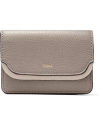 Chloé | Two-tone Textured-leather Cardholder | Lyst
