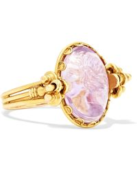 Fred Leighton - 1870s 18-karat Gold Amethyst Ring - Lyst