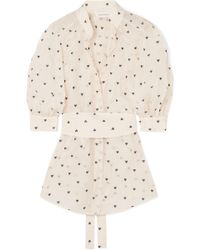 Zimmermann - Embroidered Cotton And Silk-blend Organza Blouse - Lyst