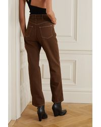 Reformation + Net Sustain Cowboy Organic High-rise Straight-leg Jeans - Brown