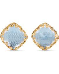 Larkspur & Hawk - Jane Gold-dipped Quartz Earrings - Lyst