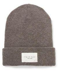 Rag & Bone Addison Fine-knit Beanie - Gray