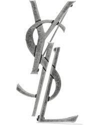 Saint Laurent - Oxidized Silver-tone Brooches - Lyst