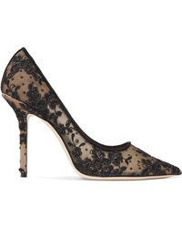 Jimmy Choo - Love 100 Swiss-dot Tulle And Corded Lace Pumps - Lyst