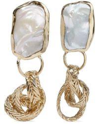 Stvdio Isabella Gold-tone Pearl Earrings - Metallic