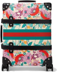Gucci - Globe-trotter Leather-trimmed Floral-print Fiberboard Suitcase - Lyst