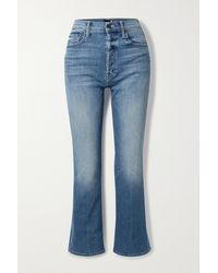 Mother The Tripper High-rise Straight-leg Jeans - Blue