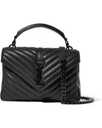 Saint Laurent - College Medium Quilted Leather Shoulder Bag - Lyst