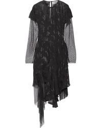Preen By Thornton Bregazzi - Carly Metallic Fil Coupé Chiffon And Swiss-dot Tulle Dress - Lyst