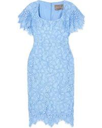 Lela Rose - Kleid Aus Schnurgebundener Spitze - Lyst