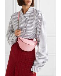 Balenciaga Souvenir Xxs Aj Gürteltasche Aus Lackleder Mit Krokodileffekt - Pink