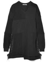 McQ - Oversized Patchwork Cotton Mini Dress - Lyst