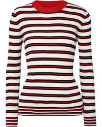 Chinti & Parker - Striped Ribbed Cotton Jumper - Lyst