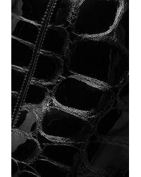 Alexander Wang Asymmetric Croc-effect Patent-leather Mini Skirt - Black