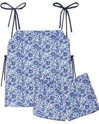 Three J Nyc - Brigette Floral-print Cotton-poplin Pajama Set - Lyst