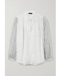 Rag & Bone Carly Bluse Aus Bedrucktem Voile Aus Einer Baumwollmischung - Weiß