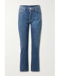 Goldsign - Net Sustain High-rise Straight-leg Jeans - Lyst