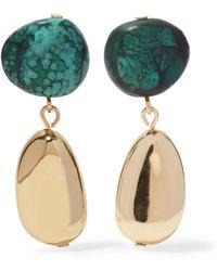 Dinosaur Designs - Short Mineral Gold-filled Resin Earrings - Lyst
