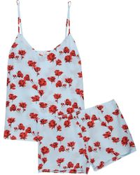 Equipment - Alexy Floral-print Washed-silk Pyjama Set - Lyst