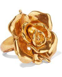 Oscar de la Renta   Rosette Gold-tone Ring   Lyst