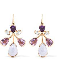 Fernando Jorge - Corolla 18-karat Rose Gold Multi-stone Earrings - Lyst
