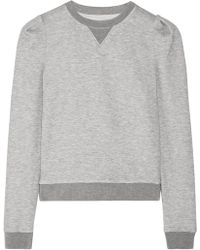Adam Lippes Woman Mélange Stretch-jersey Sweatshirt Gray Size L Adam Lippes Footlocker Pictures Cheap Price Outlet Store Pick A Best Cheap Online jcSpwqO