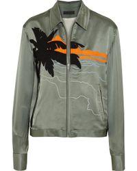 Rag & Bone - Roth Oversized Embroidered Satin Bomber Jacket - Lyst