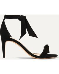 Alexandre Birman - Clarita Bow-embellished Suede Sandals - Lyst