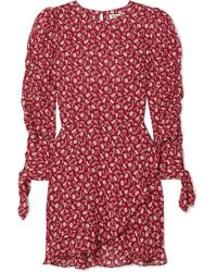 Reformation Lucita Minikleid Aus Webstoff Mit Blumenprint - Rot