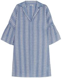 Splendid - Dolman Cotton-jacquard Mini Dress - Lyst