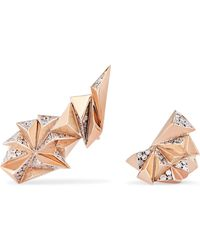 Diane Kordas - Eclipse 18-karat Rose Gold Diamond Earrings - Lyst