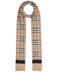 Burberry Printed Silk-twill Scarf - Natural