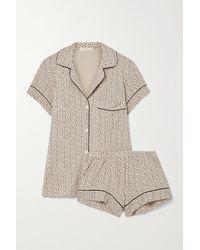 Eberjey Pyjama En Modal Stretch Imprimé Gisele - Multicolore