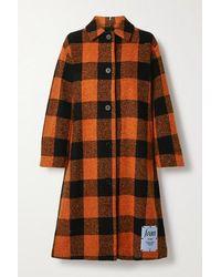 McQ Checked Wool-blend Coat - Orange